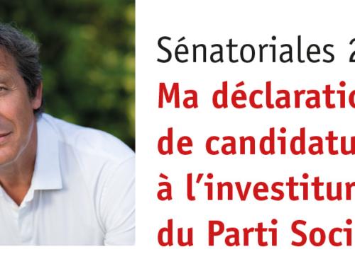 Sénatoriales2017 : ma déclaration de candidature