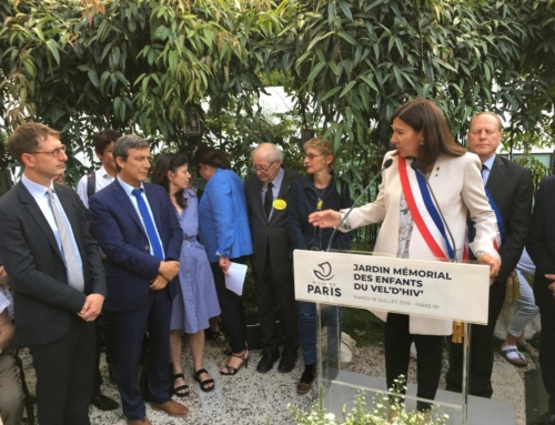 Retour sur la cérémonie au Jardin Mémorial des Enfants du Vel'D'Hiv'