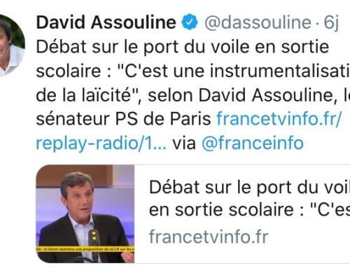 France Info 29/10 : Débat sur le port du voile en sortie scolaire