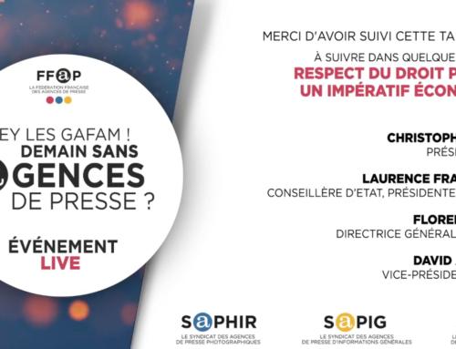 30/09 FFAP : table ronde sur l'impératif du respect du droit voisin pour les éditeurs et agences de presse