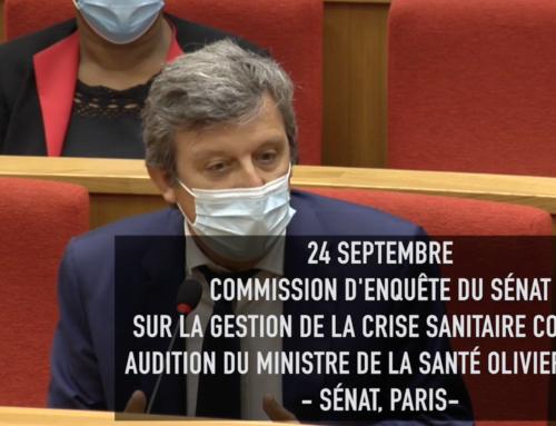 (Vidéo) Question à Olivier Veran lors de la commission d'enquête sur la gestion de la crise covid-19 (24/09)