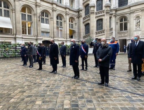 Hommage aux victimes des attentats du Bataclan et des terrasses de novembre 2015